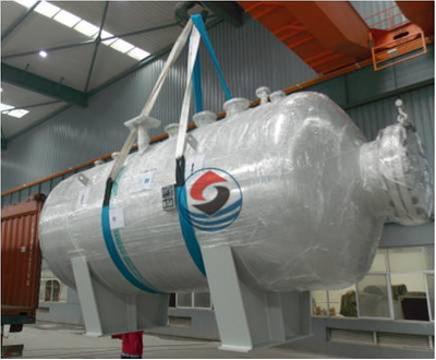 Vessel for sea water desalination project